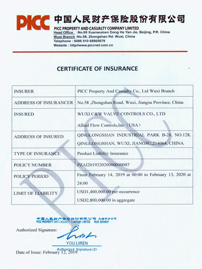 Valve-Controls com >> Certification & Patents
